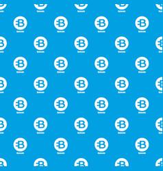 Bytecoin pattern seamless blue vector