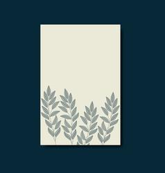 card with elegant floral decoration vector image