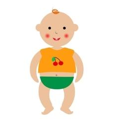 Cartoon baby drawing vector image