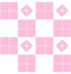 Chessboard Pink Background vector image