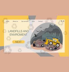 City dump landfill environmental pollution vector
