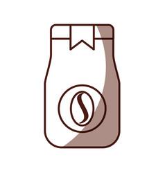 coffee toast bag icon vector image