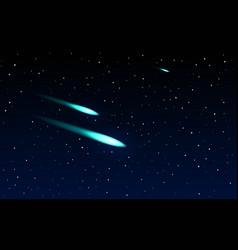 comets flying through space vector image