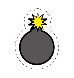 comic bomb explotion symbol vector image