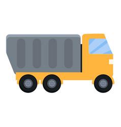 Construction road truck icon cartoon style vector