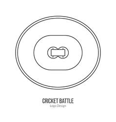 Cricket sport game logotype design concept vector image