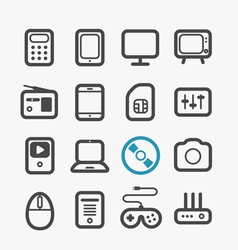 Different techno icons set vector