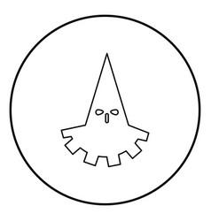 Executioner hangman icon black color in circle vector