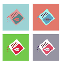 Flat icon design collection fertilizer package vector