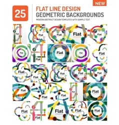 Flat line design background vector image