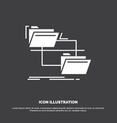 folder file management move copy icon glyph vector image