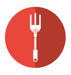 garden fork handle shadow vector image