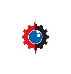 gear eye logo vector image