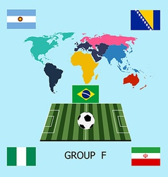 Group F - Argentina Bosnia Iran Nigeria vector