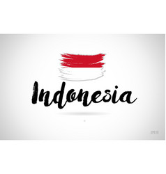 Indonesia country flag concept with grunge design vector