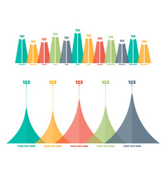 infographics elements triangle bar chart vector image