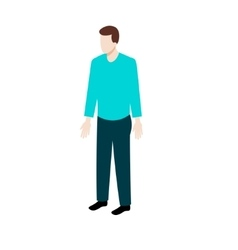 Isometric man in casual clothes vector image
