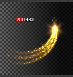 Light effect star comet glitter trail icon vector