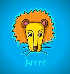 Lion on a blue background vector