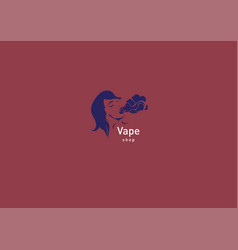 logo for vape shop girl with the electronic vector image