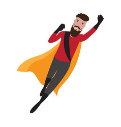 male superhero cartoon character vector image