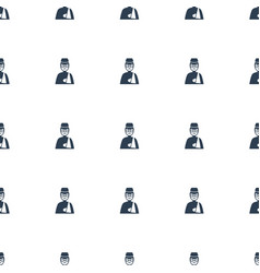 man with broken arm icon pattern seamless white vector image
