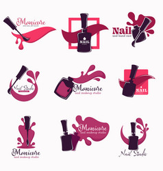 manicure and nail studio polish or varnish in vector image