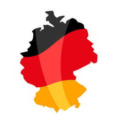 map in colors german flag vector image