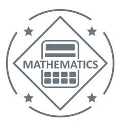mathematics logo simple gray style vector image