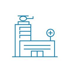 medical center linear icon concept medical center vector image