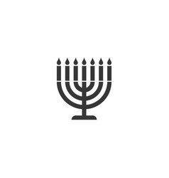 Menorah silhouette icon vector