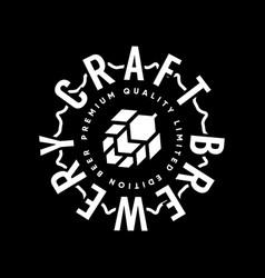 Modern craft beer drink logo sign for pub vector