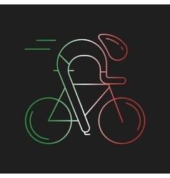 Modern cyclist vector