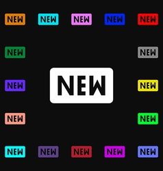 New icon sign Lots of colorful symbols for your vector image