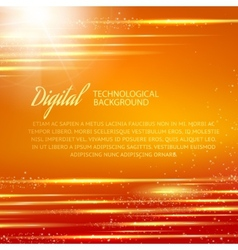Orange background with light effect vector image