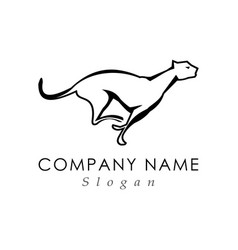 panther running logo vector image