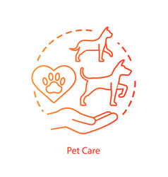 pet vet clinic concept icon domestic animals vector image