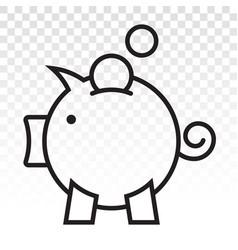 Piggy bank piggybank line art icon vector