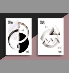 printable scandinavian poster vector image
