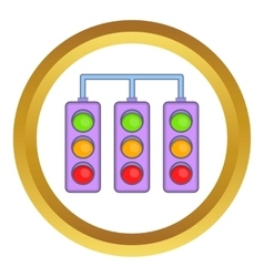 Racing traffic lights icon vector