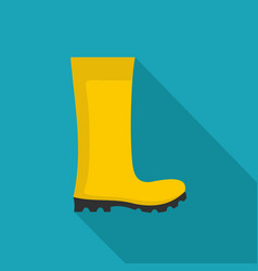 rubber boots icon flat vector image