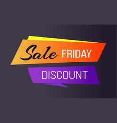 Sale friday discounts advert banner text figures vector