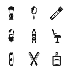 Salon icons set simple style vector image vector image