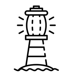 sea lighthouse icon outline style vector image