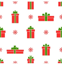 Seamless gift box pattern red gift boxes vector