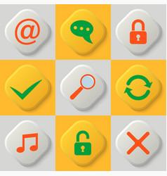 set of nine web icons vector image