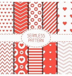 Set of romantic geometric seamless pattern with vector