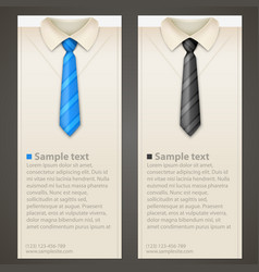 Shirt and tie business card vector