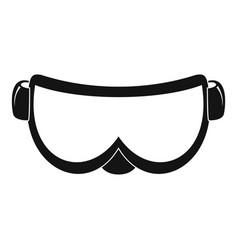 ski glasses icon simple style vector image