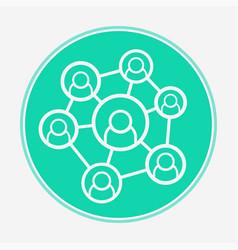 social network icon sign symbol vector image